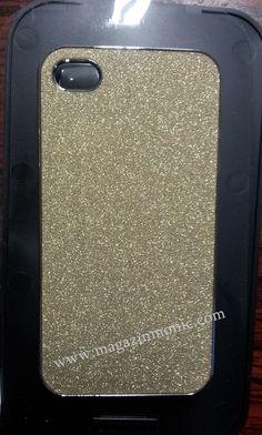 Елегантен и стилен, предпазен заден капак за iPHONE 5 със златист брокат.