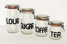 Granted, Coffee needs to go in the biggest container and Sugar in the smallest, but you get the idea...