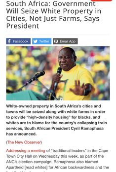 South Africa: Government Will Seize White Property in Cities, Not Just Farms, Says President Train Service, G Man, World Cities, Speak The Truth, Daily Memes, Offensive Memes, Public Transport, Edgy Memes, South Africa