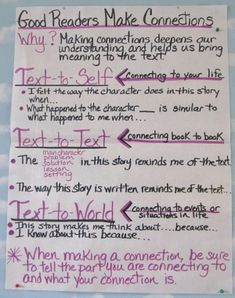 Good Readers Make Connections by JoAnn Tominaga