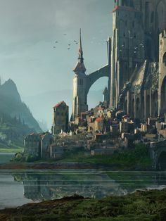 Fantasy Art Watch — Kvaslr Fortress by Raphael Lacoste