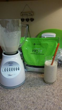 I made my 1st Profit shake using a fresh peach a frozen banana 8oz milk and 1 sccop of creamy vanilla Profit and some ice cubes. It is Delicious!! www.laughloudandwrap.myitworks.com