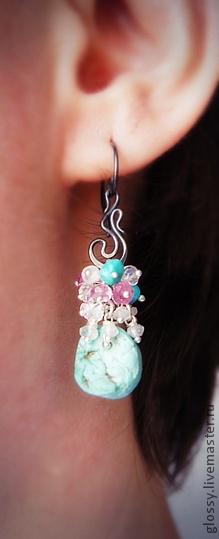 Handmade earrings.  Fair Masters - handmade earrings Isolda.  Handmade.