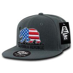 a5d94890e8a74 California Republic USA Cali State Bear Flag Snapback Hat by Whang