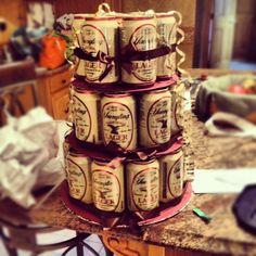 21st birthday beer cake for my boyfriend!
