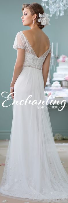 Enchanting by Mon Cheri Spring 2016 ~Style No. 116139 #tulleweddingdress