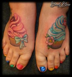 These cupcake tattoos are making me hungry. Yum :)