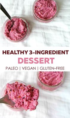 Healthy vegan gluten-free raw and paleo dessert that is quick and super easy. You'll only need 3 ingredients. Paleo Dessert, Healthy Dessert Recipes, Raw Food Recipes, Vegan Desserts, Budget Recipes, Healthy Desserts, Free Recipes, Quick Easy Desserts, Quick Easy Meals
