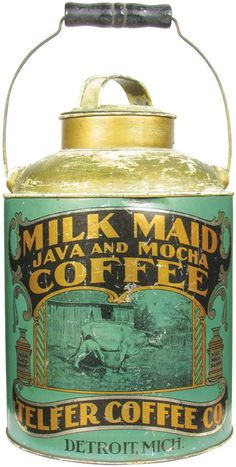 Milk Maid Java and Mocha Coffee Pail : Lot 283