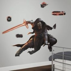 Star Wars EP VII Kylo Ren P&S Giant Wall Decal with Glow in The Dark