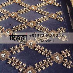 Let your saree look elegant with a designer blouse. Let your saree look elegant with a designer blouse. Designer blouse with … – Embroidery – Zardosi Embroidery, Pearl Embroidery, Hand Embroidery Dress, Couture Embroidery, Embroidery Motifs, Embroidery Suits, Hand Embroidery Designs, Maggam Work Designs, Blouse Designs Silk