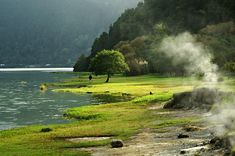 ... a day trip to the Furnas, hiking and swimming in the hot springs while vacationing in São Miguel, Azores, Portugal.
