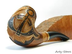 "Tobacco Smoking pipe ""Anchor"" Handmade"