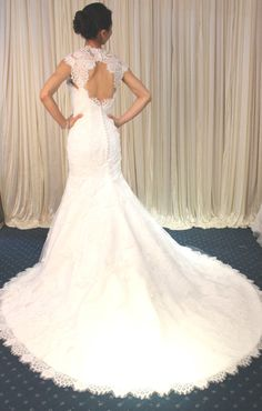 Mermaid Sweetheart Lace Wedding Dress with Removable by Whitesrose, $418.00