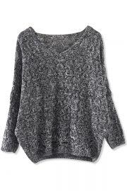 Marled V-Neck Sweater