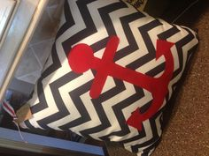 Anchor pillow...different colors but love the chevron with anchor