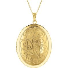 Sterling Silver/ 14k Gold Engraved Oval Locket Necklace ($80) ❤ liked on Polyvore featuring jewelry, necklaces, yellow, gold necklace, 14 karat gold necklace, chain necklace, sterling silver pendant necklace and sterling silver chain necklace