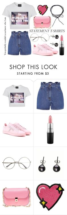 """Statement T-Shirts"" by xnightelsax ❤ liked on Polyvore featuring Valentino, Tod's, Black and Stoney Clover Lane"