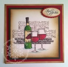 Designed by Sarah Bell - using Wine O'Clock stamp by For the Love of Stamps