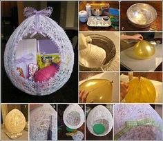 This Egg Shaped String Basket will be Superb for Easter
