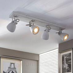 Plafonnier LED en béton à quatre lampes Kadiga, référence 9620678 - Luminaires en béton, faites place aux nouvelles tendances chez Luminaire.fr !