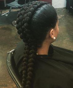 two goddess braids hairstyle