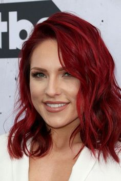 Dancing with the Stars, Sharna Burgess with fiery red hair - #Burgess #Dancing #Fiery #hair #Red #Sharna #Stars Red Hair Bright Cherry, Red Hair With Ombre, Burgundy Red Hair, Vibrant Red Hair, Pretty Red Hair, Cherry Hair, Brown To Red Hair, Res Hair Color, Ruby Red Hair Color