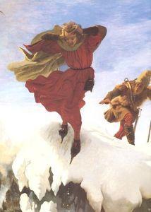 Ford Madox Brown - Manfred sur la Jungfrau