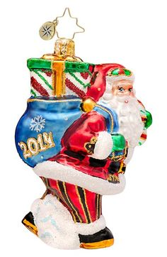 Christopher+Radko+'2014+-+Perfect+Timing+-+Gem'+Handcrafted+Glass+Santa+Ornament+available+at+#Nordstrom