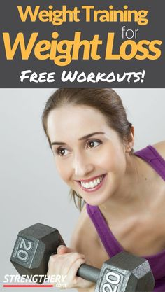 Discover how to use weight training for weight loss. All the concerns are broken down so you can either adapt your existing weight training routine, make your own or you can use my example. Weight Loss Plans, Best Weight Loss, Weight Lifting, Weight Loss Tips, Body Weight, Weight Training For Beginners, Weight Training Workouts, Exercise Workouts, Lifting Workouts