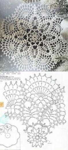 Doily pattern......... Crochet Mat, Crochet Dollies, Crochet Pillow, Crochet Round, Thread Crochet, Crochet Crafts, Crochet Flowers, Crochet Stitches, Free Mandala Crochet Patterns