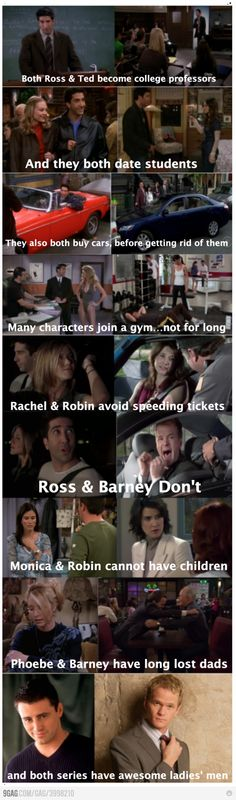 How I Met Your Mother #himym vs friends haha