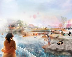 Down by the River, First Prize Open Architecture Competition | MANDAWORKS AB & Hosper Sweden | Archinect