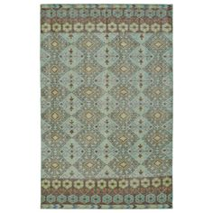 Hand-Knotted-Vintage-Turquoise-Kilim-Rug-90-x-120