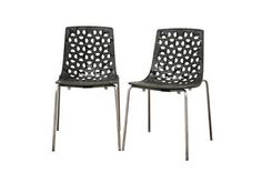 Spring Black Plastic Modern Dining Chair Restaurant Furniture