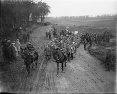 SOMME OFFENSIVE WESTERN FRONT 1916 (Q 6219) Battle of the Ancre. Prisoners being bought in near Mailly, 22 November 1916.