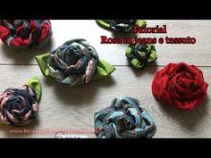 come realizzare una rosa in jeans e tessuto - YouTube