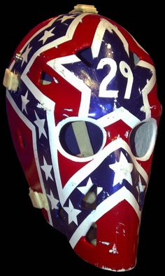 Capital's Mike Palmateer #29  vintage goalie masks Hockey Goalie, Hockey Games, Hockey Players, Ice Hockey, Nhl, Goalie Mask, Good Old Times, Sports Uniforms, Best Masks