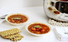 Soupe de tomates, d'orge et de haricots