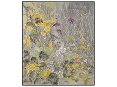John Richard Botanical/Floral Teng Fei's Silver Garden Wall Painting