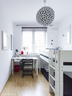 Black and White Boys' Room with Stokke Tripp Trapp | Scandinavian Design Ideas via MY FULL HOUSE BLOG