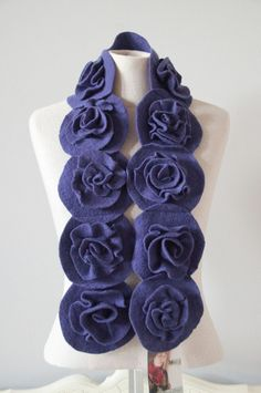 What a great idea -- upcycle old sweaters into pretty scarves!