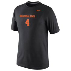Oklahoma State Cowboys Nike No. 4 Legend Replica Performance T-Shirt - Black