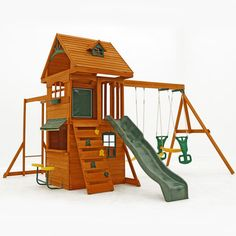 FREE SHIPPING! Shop Wayfair for Big Backyard Ridgeview Deluxe Clubhouse Wooden Swing Set - Great Deals on all Furniture products with the best selection to choose from!