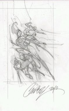 J Scott Campbell Uncanny X force cover prelim, in FREDCRAMPTON's J SCOTT CAMPBELL ART Comic Art Gallery Room - 765871