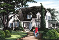English Cottage House Plan with 2659 Square Feet and 5 Bedrooms from Dream Home Source | House Plan Code DHSW076863