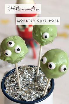 Halloween Rezept: Monster Cake Pops sind eine coole Halloween Idee. Natürlich kann man das Cake Pops Rezept auch für einen Weltraum Geburtstag oder eine Monsterparty backen.