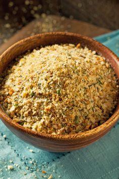 Homemade Seasoned Bread Crumbs Recipe with Parsley, Garlic, Onion Powder, White Sugar, and Oregano