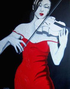 Gioia Cordovani- Regenbogen - Art & Books Piano Y Violin, Cello, Theatre Costumes, Black White Red, Artist Names, Musical, Art Boards, Female Art, Creative Art