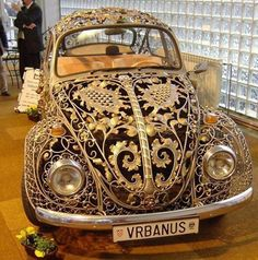 Steampunk by DreamSteam: Neo-Victorian VW Beetle . and Other Wrought Iron Vehicles SteamPUNK ☮k☮ Auto Volkswagen, Vw T1, Volkswagon Bug, Vw Modelle, Style Steampunk, Steampunk Couture, Steampunk Fashion, Vw Vintage, Vintage Style